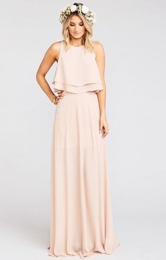 Bridesmaid dresses. Go with a most suitable bridesmaid dress for your wedding. You need to take into account the dresses which would flatter your bridesmaids, at the same time, match your wedding style.