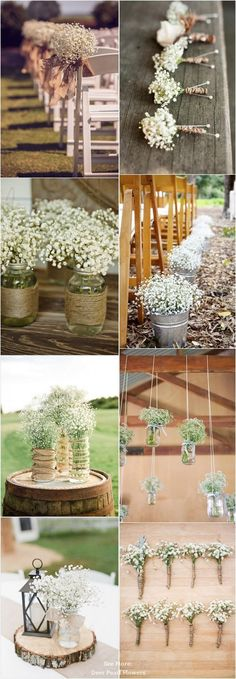68 Baby's Breath Wedding Ideas for Rustic Weddings / http://www.deerpearlflowers.com/68-babys-breath-wedding-ideas-for-rustic-weddings/