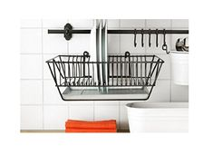IKEA Wall storage: along one wall (possibly behind the shower? run an ikea storage hanging system. Ikea Wall Storage, Kitchen Storage, Wall Storage, Kitchen Decor, Ikea, Dish Drainers, Wall Storage Unit, Kitchen Wall Storage, Ikea Kitchen