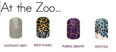 Which Jamberry nail wraps would you wear for a day at the zoo??     Elephant? Cheetah? Leopard? Giraffe? ---  Check out my Jamberry FB page to play games and win free Jamberry. Email for more info on how to order this wrap by Jamberry - lisavandiver18@gmail.com