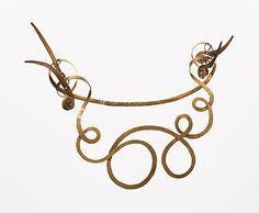 "Alexander Calder {""The Jealous Husband"" necklace, brass wire, 1940}"
