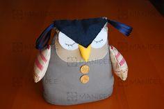 Cucito creativo, gufo fermaporta - Sewing doorstop owl