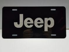 Laser Engraved Jeep Logo License Plate / Car Tag Vanity Plate by vinylcustomdecals on Etsy