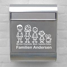 Postkasse - Wallsticker med hele familien