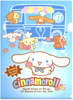 Sanrio Cinnamoroll Bakery Plastic File Folder