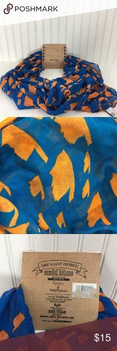 Oklahoma team scarf Perfect Okc thunder scarf. Blue with orange Oklahoma states.  Extra long. alma-mater Accessories Scarves & Wraps