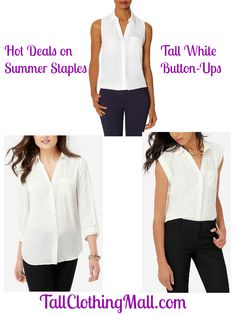 Hot Deals on Summer Staples: Tall White Button-Up Shirts - Tall Clothing Mall
