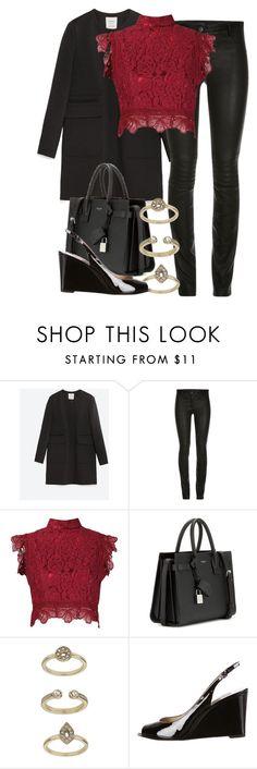 """Zara x Michael Kors"" by muddychip-797 ❤ liked on Polyvore featuring Zara, Martha Medeiros, Yves Saint Laurent, Topshop, Michael Kors, women's clothing, women, female, woman and misses"