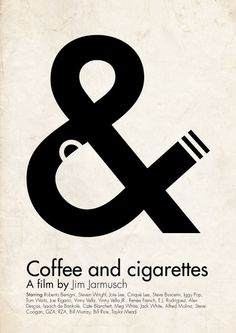 'Coffee and cigarettes' poster by Hertzen. Love the use of negative space.