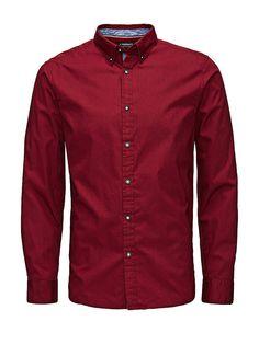 PRODUKT - Langärmeliges Hemd von PRODUKT - Slim fit - Button-Down - Abgerundeter Saum mit Schlitzen zu den Seiten - Popelin-Qualität - Das Modell trägt Größe L und ist 187 cm groß 100% Baumwolle...