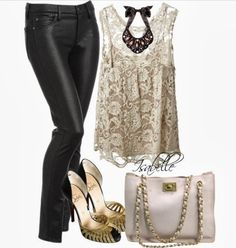 Leather and lace. Sexy and romantic ♥