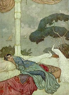 Alphonse's Room by Edmund Dulac - from the his illustrations for The Rubaiyat of Omar Khayyam