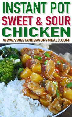 Instant Pot Sweet and Sour Chicken is a flavorful, restaurant quality meal made simple and easy in your pressure cooker in just 30 minutes! Made with sweet pineapple and bell pepper, is the perfect weeknight dish to have. Crockpot Recipes, Dog Food Recipes, Chicken Recipes, Cooking Recipes, Healthy Recipes, Instant Pot Dinner Recipes, Easy Dinner Recipes, Easy Meals, Recipe For Sweet & Sour Chicken