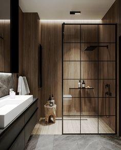 Bathroom Inspiration // Pechersky 88 - Home decor interests Bathroom Design Luxury, Modern Bathroom Design, Home Interior Design, Modern Interior, Interior Livingroom, Bedroom Modern, Bathroom Designs, Modern Luxury, Bathroom Trends