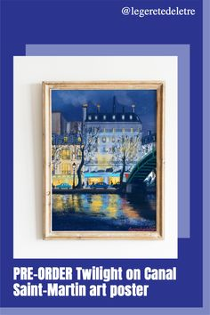#wallart #artposter #parisart #parisstyle #blueart #bridgeart #HOMEDECOR Paris Illustration, Travel Illustration, Digital Illustration, Summer Poster, Wall Art Prints, Poster Prints, Flat Interior, Paris Art, Bicycle Art