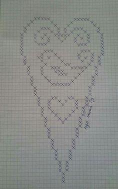 New crochet heart edging shape ideas Crochet Wallet, Crochet Bookmarks, Filet Crochet, Crochet Motif, Crochet Doilies, Diy Crochet, Crochet Mittens Free Pattern, Crochet Blanket Patterns, Cross Stitch Patterns