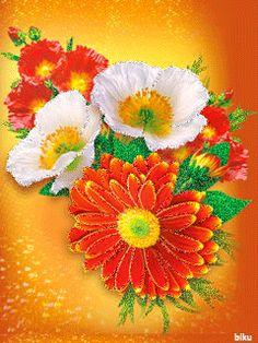 Красивые цветы на телефон - Анимашки и блестяшки на телефон