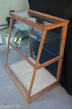 Antique Candy Counter/Antique Store Display Cabinet w/Glass Shelves PICK UP ONLY