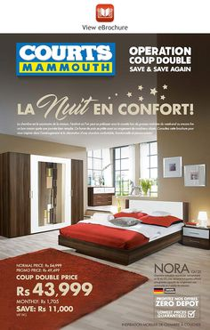 Nouvel arrivage @ Courts Mammouth ! Call: 207 1100