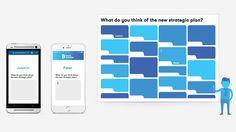 Met BuzzMaster krijg je elke zaal gegarandeerd in beweging. Of je nou een congres, debat, lezing of workshop organiseert. Via hun smartphones of tablets doet het publiek actief mee. Ze kunnen vragen stellen aan de spreker, hun mening geven, polls invullen en nog veel meer. Conference Planning, Conference Meeting, Marketing Innovation, Badges, Bar Chart, How To Plan, Name Badges, Bar Graphs, Badge