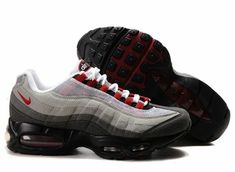 best website f3612 6c2f7 Cheap Cheaper Nike Air Max 95 Women Premium Trainers Grey Red White And  Black Shoes Online Shopping Store