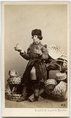 William Carrick (Russian: Вильям Андреевич Каррик) (31 December 1827 – 11 November 1878): Portrait of a Russian basket seller. Circa 1860s.