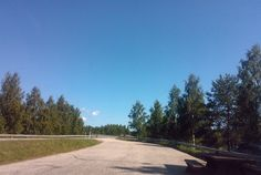 Rest stop and blue sky