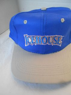 8e1f1215a27 Ice House Beer Snapback Adjustable Trucker s Hat Beer Ball Cap Never Worn  Cotto Hat Size Chart