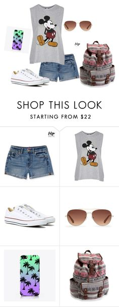 """""""How to Wear Outfits for School"""" by nknudson-04 on Polyvore featuring Aéropostale, Topshop, Converse, Stella & Dot and The Small Print."""