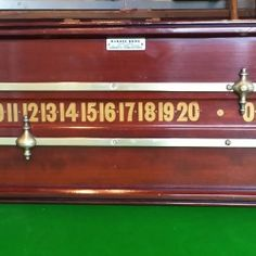 Antique Snooker Scoreboard by Barnes Bros. | Browns Antiques Billiards and Interiors.