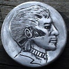 "85 BILL ""BILLZACH"" JAMESON HOBO NICKEL - NO DATE BUFFALO PROFILE Hobo Nickel, Buffalo, Coins, Carving, Profile, User Profile, Rooms, Wood Carvings, Sculptures"