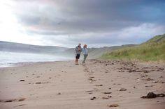 Walking on a deserted beach!