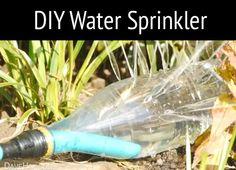 How To Make Homemade Water Sprinklers   http://homestead-and-survival.com/how-to-make-homemade-water-sprinklers/