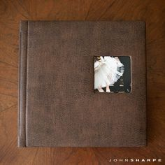 Renaissance Albums - 10x10 Fine Art Album  |  Madison NL - Distressed Brown Cover  |  One Image Opening (OP2)  |  21 Pages  |  Source: John Sharpe Photography (http://blog.johnsharpephotography.com/fine-art-wedding-albums/#)