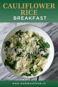 There is a restaurant in Nashville that makes fried rice with bacon and eggs and it's truly one of the best things I've ever had. It is this rich and flavorful breakfast dish that is always topped with a perfectly cooked egg. This cauliflower rice breakfast stir fry is my grain free version of that classic dish. If you've ever done a whole30, you know how hard it can be to get that feeling of comfort food, but this dish became my whole30 comfort food for sure. #comfortfood #whole30…
