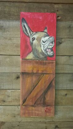 Donkeys by wilma – Artofit Pallet Painting, Pallet Art, Painting On Wood, Animal Paintings, Animal Drawings, Art Drawings, Fan Blade Art, Scratchboard Art, Farm Art