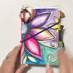 Chunky Junky Just finished this journal. my new favJust finished this journal. my new favChunky Junky Just finished this journal. my new fav Art Journal Pages, Art Journal Challenge, Art Journal Prompts, Junk Journal, Art Journals, Journal Ideas, Art Journal Covers, Artist Journal, Notebook Covers