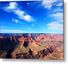 Grand Canyon National Park Landscape With Clouds Metal Print By Tammy Winand Photography