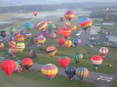 Plan your trip to the Adirondacks around these events in Lake George, Lake Placid, Glens Falls and more. Lake George Camping, Lake George Ny, Air Balloon Rides, Hot Air Balloon, Air Ballon, Balloon Show, Best Vacations, Family Vacations, Aerial View
