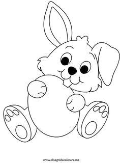 Tavşan Boyama Sayfası Boyama