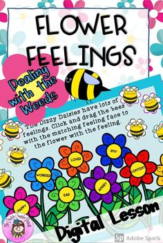 Made with Google Slides for distance learning, this self-directed lesson helps students identify negative feelings & situations through fun, interactive drag and drop Garden themed activities.  #feelings #emotions #distancelearning #digital #digitalresources #googleslides #CreativeCounselor Group Counseling, Counseling Activities, Fun Activities, Elementary School Counselor, Elementary Schools, Guidance Lessons, Preschool Themes, Student Learning, Small Groups