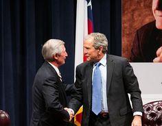 George W. Bush visits 9/11 memorial museum after Senate CIA torture report release http://www.examiner.com/article/bush-visits-9-11-memorial-museum-after-senate-cia-torture-report-release