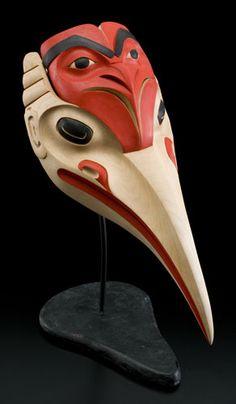 Mosquito headdress by Eugene Alfred, Northern Tutchone, Tlingit artist Native American Masks, American Indian Art, Art Inuit, Pole Art, Haida Art, Art Premier, Tlingit, Cool Masks, Native Design