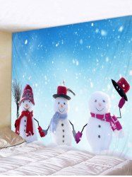 a2e6ca70f7b Christmas Snowmen Pattern Wall Hanging Tapestry Inspire Me Home Decor