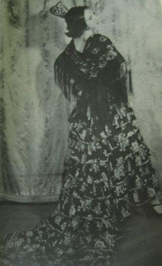 Anais Nin in spanish costume, 1927-1931