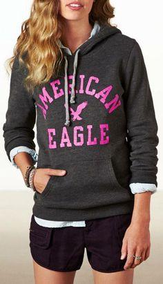 a020b57e AE American Eagle Sweatshirt American Eagle Hoodies, American Eagle  Outfits, Cute Teen Outfits,