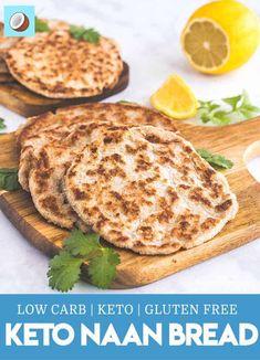 Make Naan Bread, How To Make Naan, Keto Foods, Keto Snacks, Curry, Pan Cetogénico, Bread Recipe Video, Naan Recipe, Aperitivos Keto
