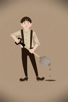 Mad Men: the illustrated world by Dyna Moe... Dick Whitman digs holes