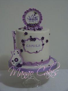 Torta de Violetta Cupcakes, Cupcake Cakes, Violetta Cake, Music Themed Cakes, Poppy Cake, Mango Cake, Girl Cakes, Pretty Cakes, Cakes And More