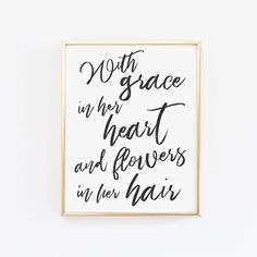 With Grace In Her Heart Birthday Decor, Party Decorations, Bday Photo Shoot Prop, Quote, Black & Printing Services, Online Printing, Contemporary Wall Art, Art Wall Kids, Birthday Decorations, Different Colors, First Birthdays, Colours, Photoshoot
